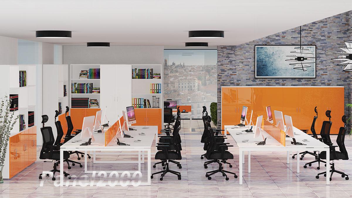 Cómo influye el color naranaja de la oficina en el trabajo