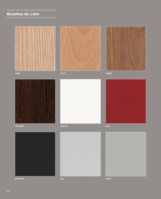 Muestario de color disponible en panel2000 las mejores for Muebles de oficina 2000