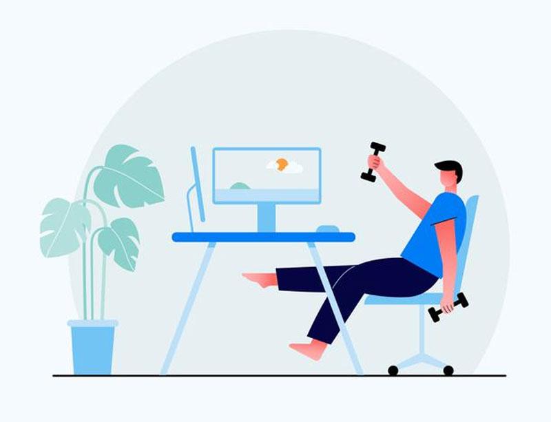 6 Ejercicios básicos con tan solo una silla de oficina