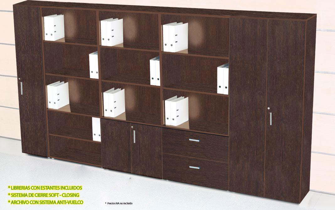 Premium librerias disponible en panel2000 las mejores for Oferta muebles oficina